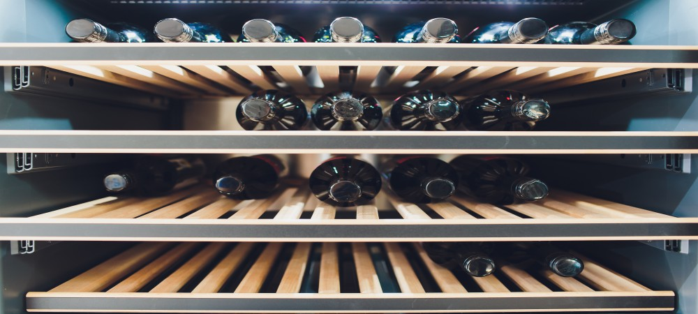 wine fridge rack